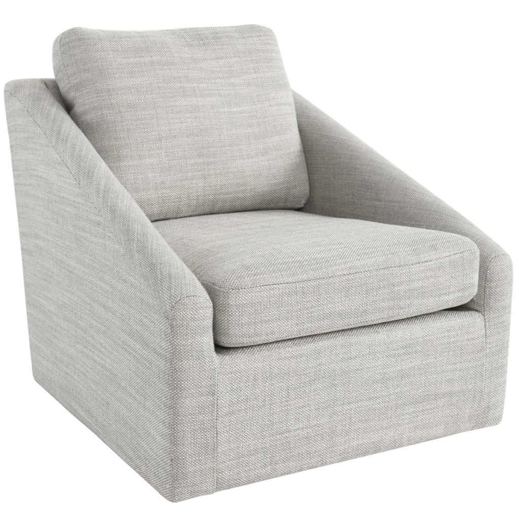 Accent Chairs - Monticello Swivel Accent Chair Grey